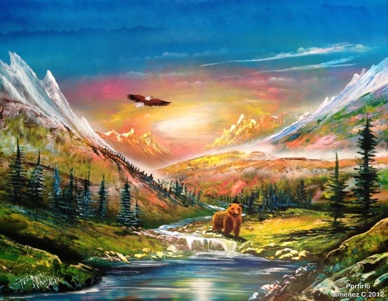 Bear Spray Paint Art