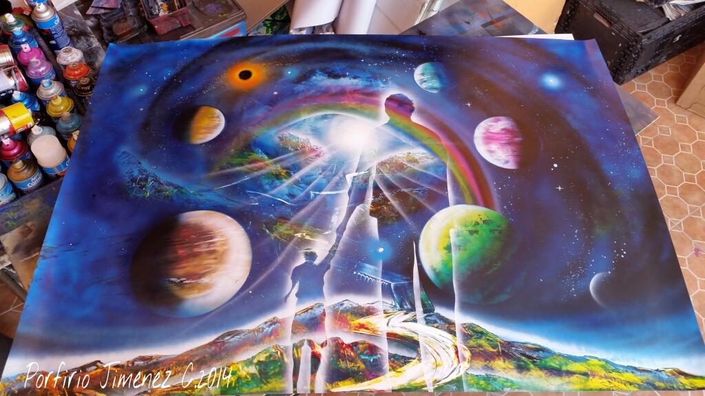 Spray Paint Artist Jimenez