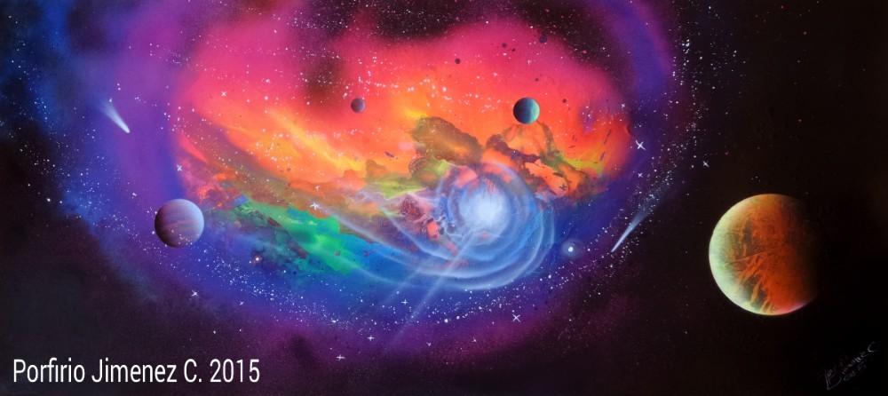 Spray Paint Art Nebula
